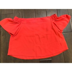 Pink Topshop Cropped Top
